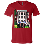 "3005 Bella Canvas Unisex Jersey V-Neck T-Shirt - ""Trivandrum Engg College"" Doodle -Personalised year"