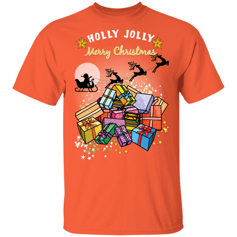 G500 Gildan 5.3 oz. T-Shirt | Holly Jolly Merry Christmas