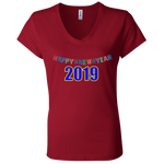 "B6005 Bella + Canvas Ladies' Jersey V-Neck T-Shirt - ""New Year"""