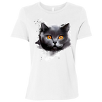 B6400 Bella + Canvas Ladies' Relaxed Jersey Short-Sleeve T-Shirt - British Shorthair
