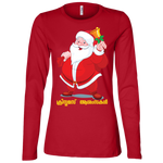 "B6450 Bella + Canvas Ladies' Jersey Long Sleeve T-Shirt - ""XMAS"""