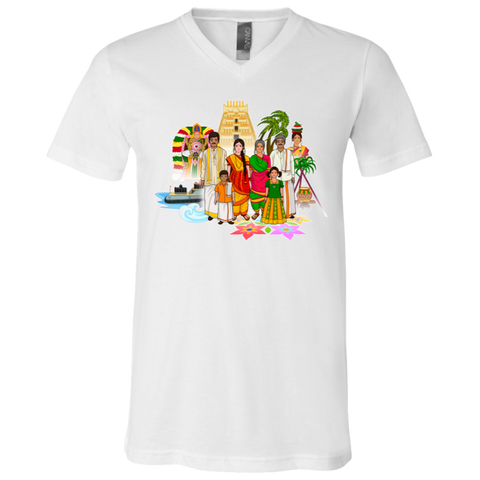 3005 Bella + Canvas Unisex Jersey SS V-Neck T-Shirt - Tamil Culture