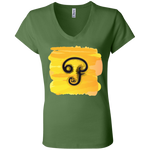 B6005 Bella + Canvas Ladies' Jersey V-Neck T-Shirt - Tamil Om