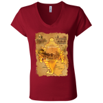 B6005 Bella + Canvas Ladies' Jersey V-Neck T-Shirt|Incredible India|BEST Kerala Tees|Thiruvananthapuram
