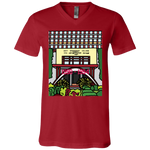 "3005 Bella Canvas Unisex Jersey V-Neck T-Shirt - ""Trichur Engg College"" Doodle -Personalised year"