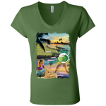 B6005 Bella + Canvas Ladies' Jersey V-Neck T-Shirt - Alappuzha