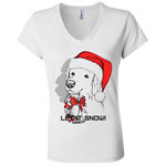 B6005 Bella + Canvas Ladies' Jersey V-Neck T-Shirt - Golden Retriever