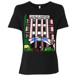 "B6400 Bella + Canvas Ladies' Relaxed Jersey Short-Sleeve T-Shirt - ""Trivandrum Engg College"" Doodle -Personalised year"