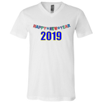 "3005 Bella Canvas Unisex Jersey V-Neck T-Shirt - ""New year"""