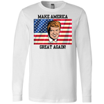 3501 Bella + Canvas Men's Jersey LS T-Shirt - Donald Trump