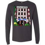 "3501 Bella + Canvas Men's Jersey Long Sleeve T-Shirt - ""Trivandrum Engg College"" Doodle -Personalised year"