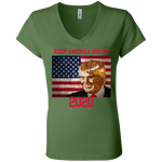 B6005 Bella + Canvas Ladies' Jersey V-Neck T-Shirt - Donald Trump
