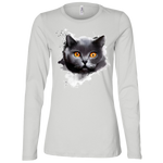 B6450 Bella + Canvas Ladies' Jersey LS Missy Fit - British Shorthair