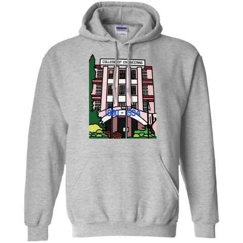 "G185 Gildan Men's Pullover Hoodie 8 oz. - ""Trivandrum Engg College"" Doodle -Personalised year"