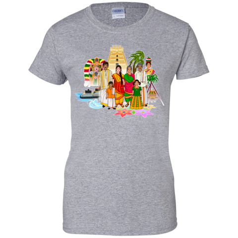 G200L Gildan Ladies' 100% Cotton T-Shirt - Tamil Culture