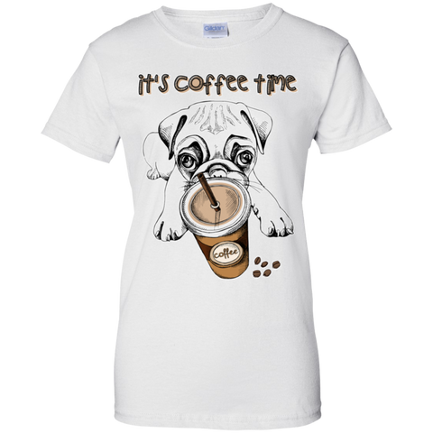 G200L Gildan Ladies' 100% Cotton T-Shirt - Pug
