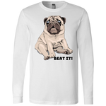 3501 Bella + Canvas Men's Jersey LS T-Shirt - Pug