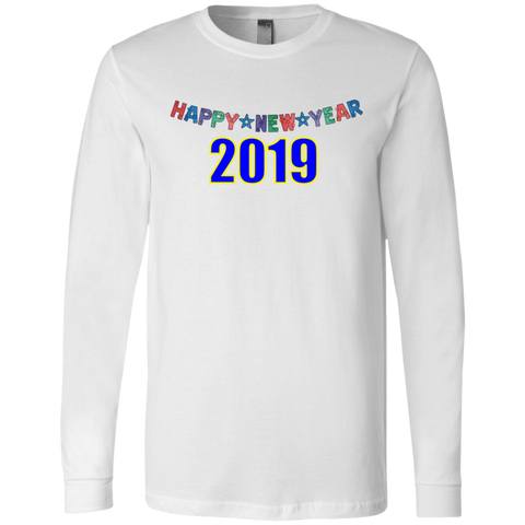 "3501 Bella + Canvas Men's Jersey Long Sleeve T-Shirt - ""New Year"""