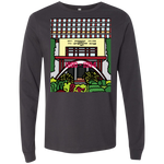 "3501 Bella + Canvas Men's Jersey Long Sleeve T-Shirt - ""Trichur Engg College"" Doodle -Personalised year"