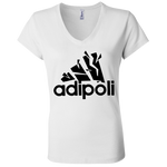 B6005 Bella + Canvas Ladies' Jersey V-Neck T-Shirt - Adipoli