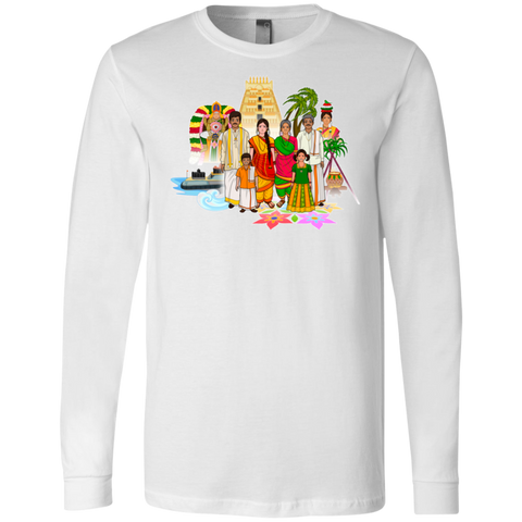 3501 Bella + Canvas Men's Jersey LS T-Shirt - Tamil Culture