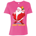 "B6400 Bella + Canvas Ladies' Relaxed Jersey Short-Sleeve T-Shirt - ""XMAS"""
