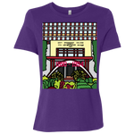 "B6400 Bella + Canvas Ladies' Relaxed Jersey Short-Sleeve T-Shirt - ""Trichur Engg College"" Doodle -Personalised year"