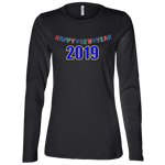 "B6450 Bella + Canvas Ladies' Jersey Long Sleeve - ""New Year"""