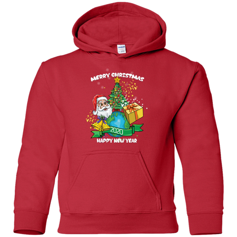 G185B Gildan Youth Pullover Hoodie | Merry  XMAS & Happy Newyear 2020