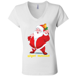 "B6005 Bella + Canvas Ladies' Jersey V-Neck T-Shirt - ""XMAS"""