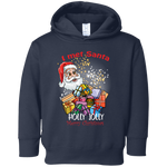 3326 Rabbit Skins Toddler Fleece Hoodie|I met Santa| Merry Xmas
