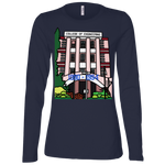 "B6450 Bella + Canvas Ladies' Jersey Long Sleeve T-Shirt - ""Trivandrum Engg College"" Doodle -Personalised year"