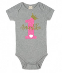 Unisex Baby Onesie/Romper 100% cotton-  the number 1 with the baby name ( For 9-12 months baby )