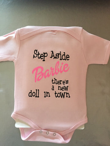 Unisex Baby Onesie/Romper 100% cotton-  New doll in town