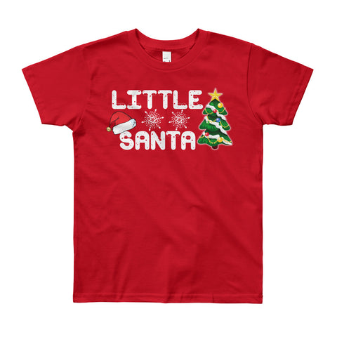 Boy's Round Neck 100% cotton tshirt - Little Santa