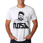 Men's Round Neck 100% cotton tshirt - Lucifer | Mohanlal | Vaada Posture