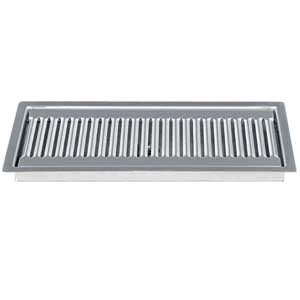 "12"" Stainless Steel Flush Mount Drip Tray, w/ Drain # DP-220D"