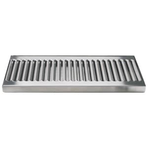 "12"" Stainless Steel Surface Mount Drain Tray, w/ Drain # DP-120D"