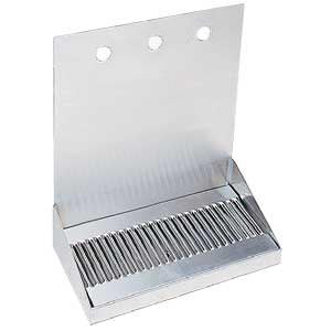"12"" Stainless Steel Wall Mount Drain Tray - 3 Faucet # DP-322D-3"