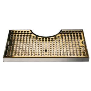 "14"" SS/PVD Brass Cut-Out Surface Mount, 4"" Column # DP-1020DSSPVD"