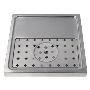 "15-3/4"" Stainless Steel Glass Rinser Drain Tray, 1-2 Faucets # DP-1604"