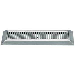 "16"" Stainless Steel Bevel Edge Drip Tray, With Drain # DP-420LD"