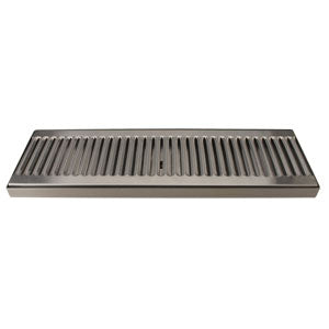 "16"" Stainless Steel Surface Mount Drain Tray, w/ Drain # DP-120D-16"