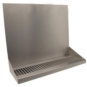 "16"" Stainless Steel Wall Mount Drain Tray # DP-322LD-0"