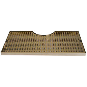 "24"" Stainless Steel Tray with PVD Grid Surface Mount, 4"" Column # DP-MET-T-PVD-24-Z"