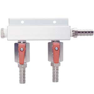 2-Way Gas Distributor, Aluminum # 751-017