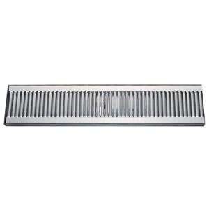 "20"" Stainless Steel Surface Mount Drain Tray, w/ Drain # DP-120D-20"