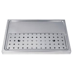 "23-5/8"" Stainless Steel Drip Tray, 2-4 Faucets # DP-1605-NR"