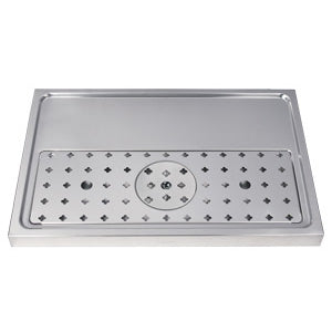 "23-5/8"" Stainless Steel Glass Rinser Drain Tray, 2-4 Faucets # DP-1605"