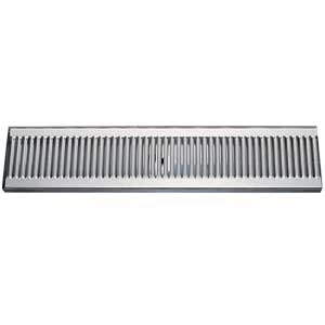 "24"" Stainless Steel Surface Mount Drain Tray, w/ Drain # DP-120D-24"